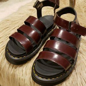 Doc Martens Clarissa Burgundy Sandals